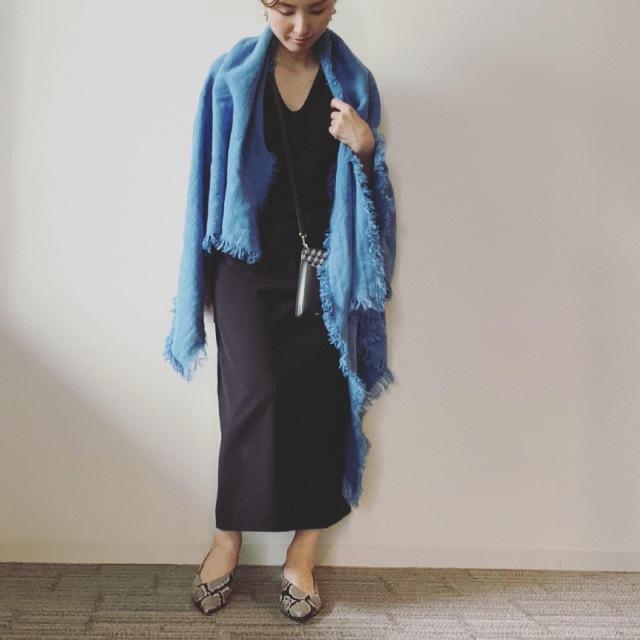 UNIQLO and Mame Kurogouchiのワンピースに合わせたいストール_1_1