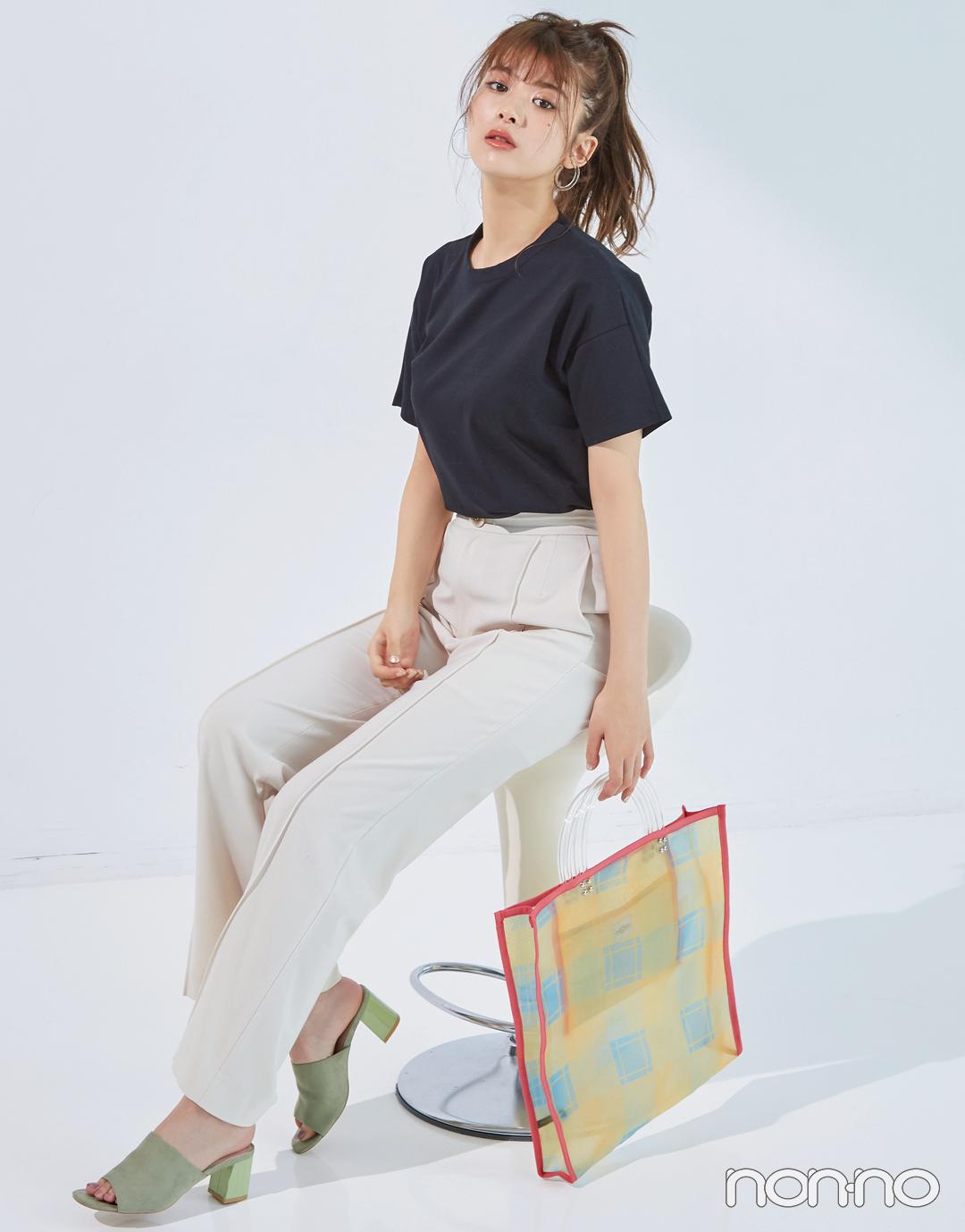 馬場ふみかが着る♡ 黒のシンプルTシャツの新鮮コーデ4選!_1_3-2