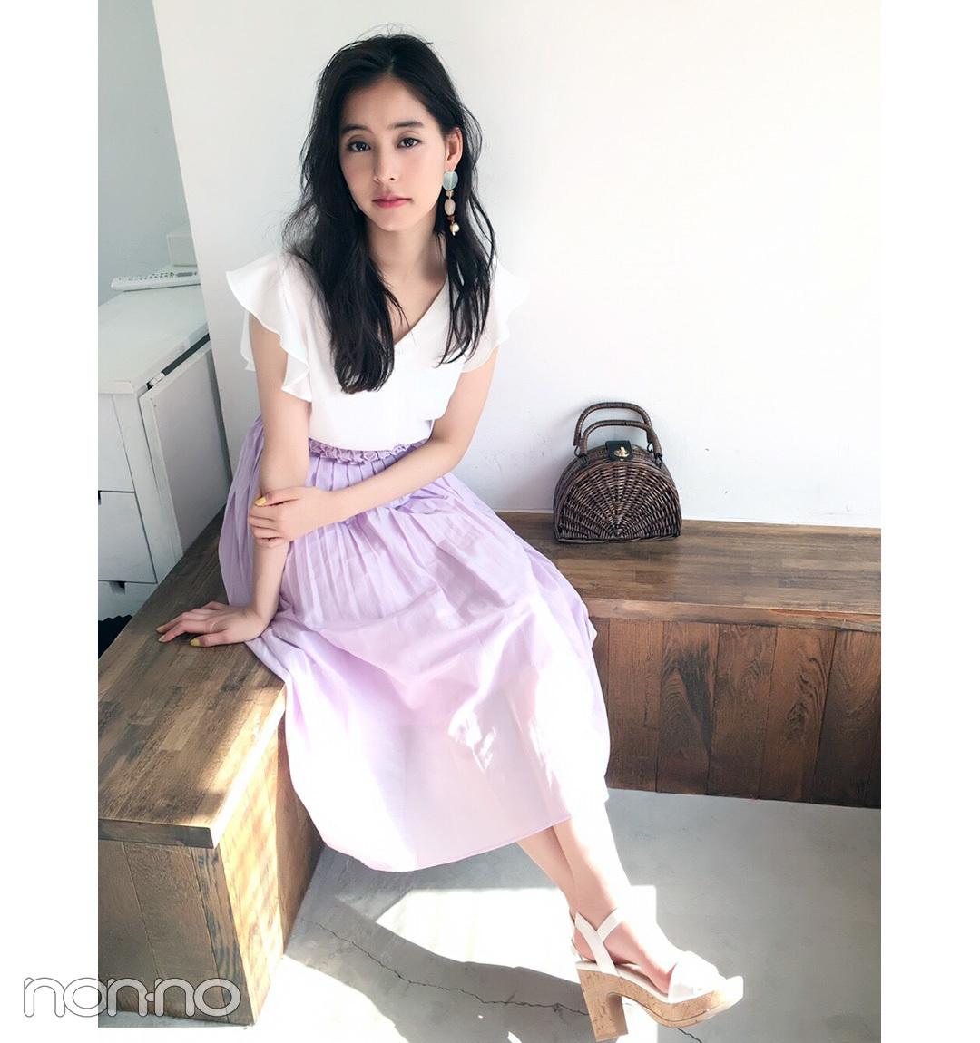 新木優子は旬のラベンダーを、ほの甘スカートで取り入れ!【毎日コーデ】_1_1