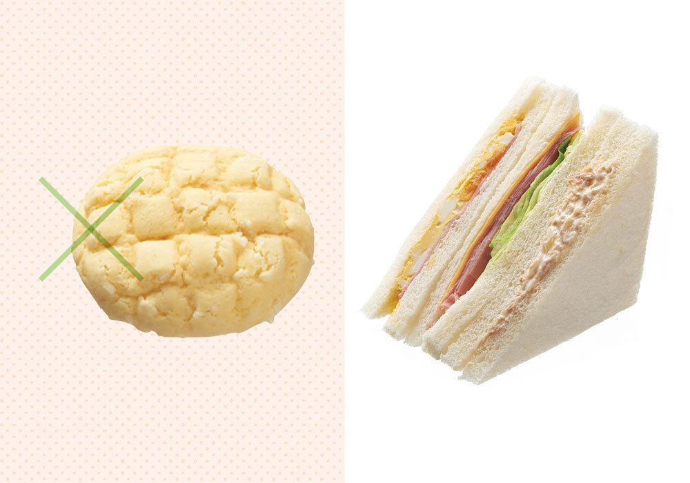 間食・おやつで糖質オフする方法3 パンならタンパク質がとれるサンドイッチを