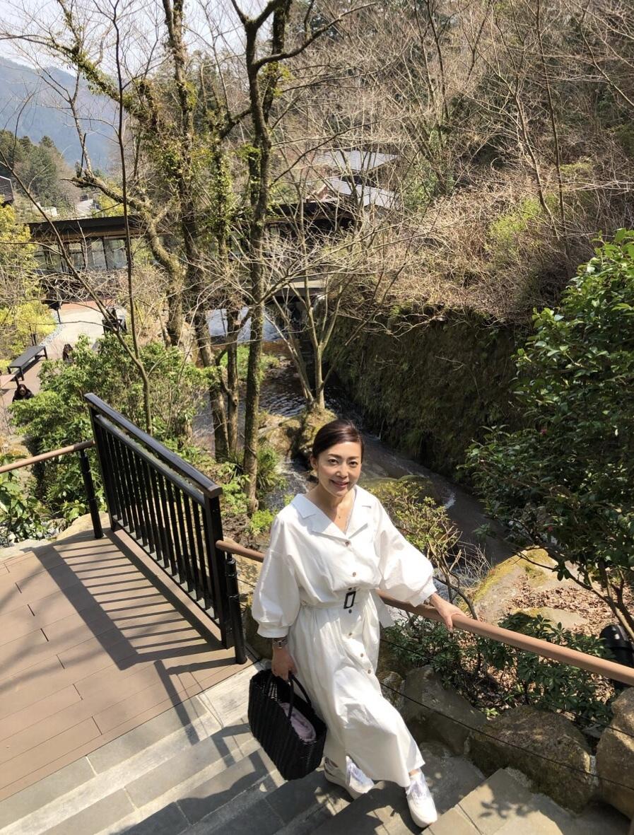 春のシャツワンピコーデで箱根旅•.*•_1_10