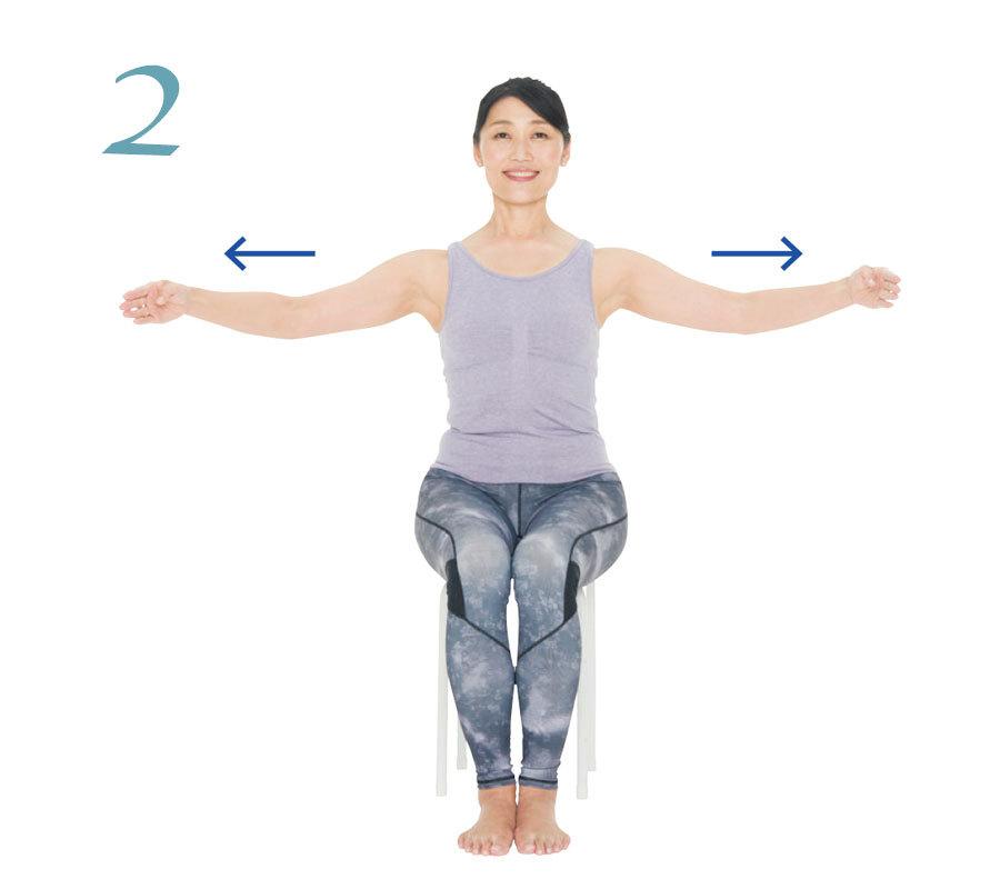 頭を正しい位置に戻す!体幹と肩甲帯を別々に動かせるようにするエクササイズ【キレイになる活】_1_3-2