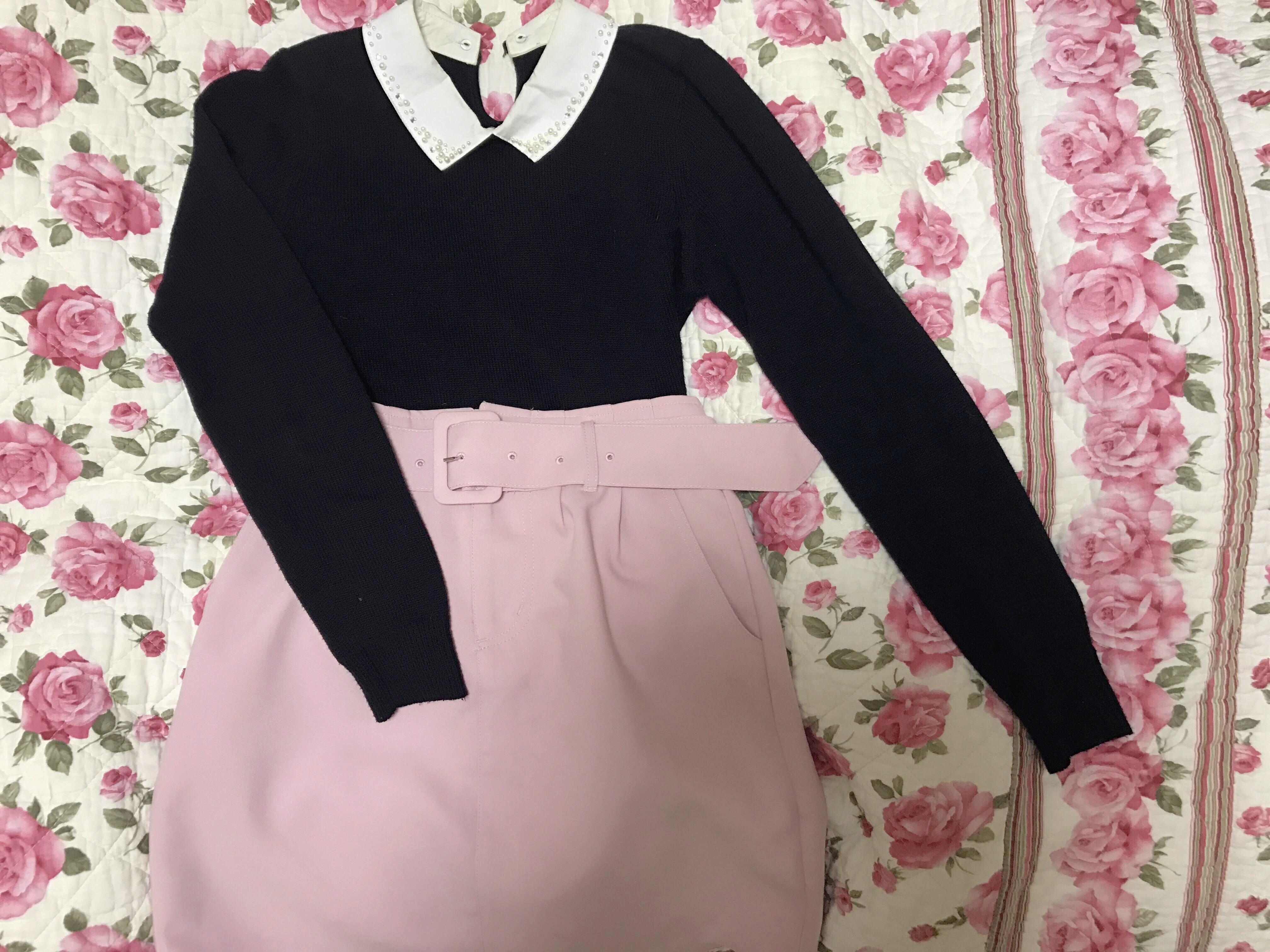 Vol.4♡ Pink × Blackで大人ガーリーcoordinate❤︎_1_6-1
