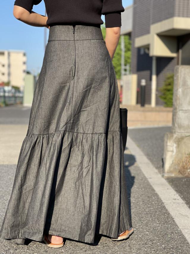 スタイルアップ見えのロングスカート「Hey life store」_1_1-2