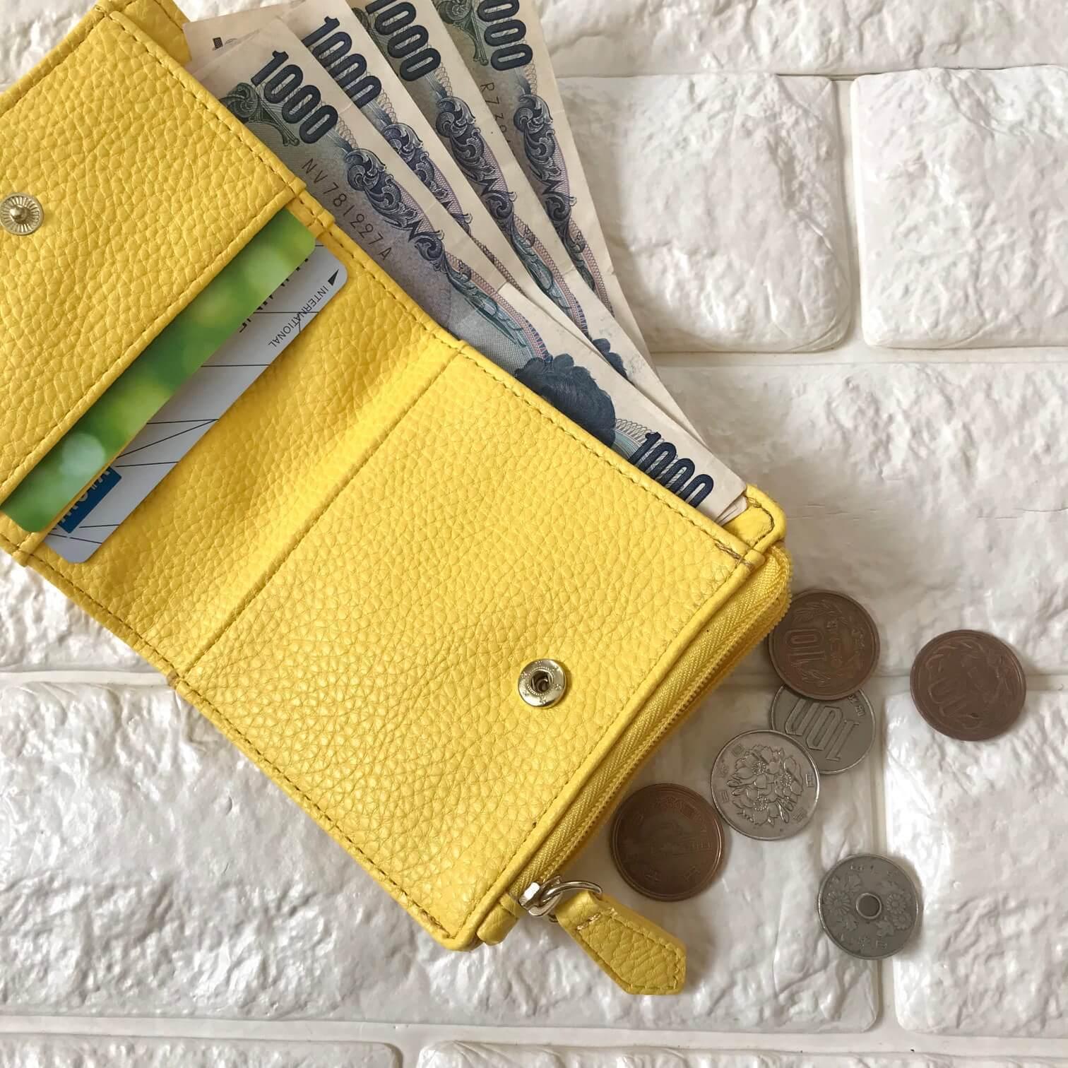 GUのお財布中身画像