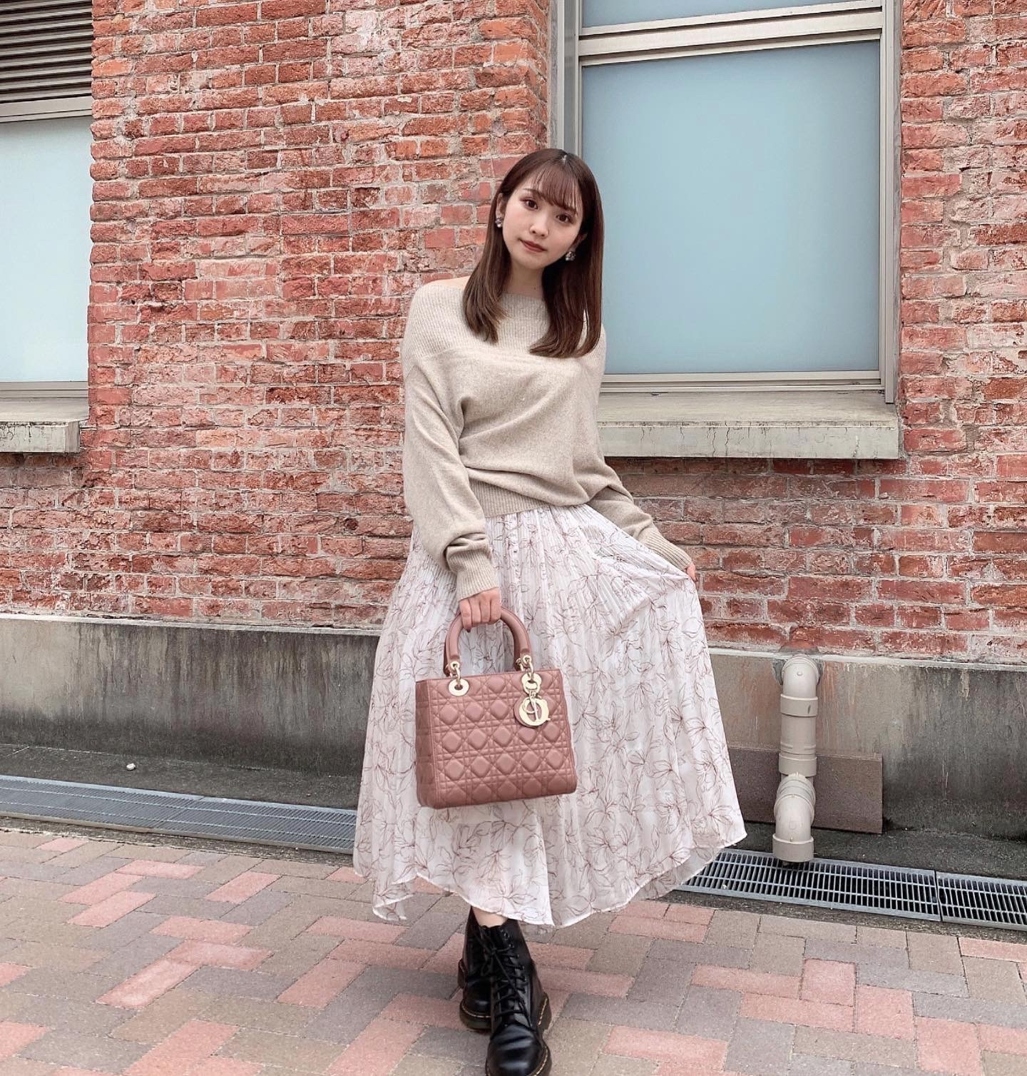 【低身長さん向け】秋のデートコーデ♡オフショル×フィッシュテールスカート【154cm 】_1_1