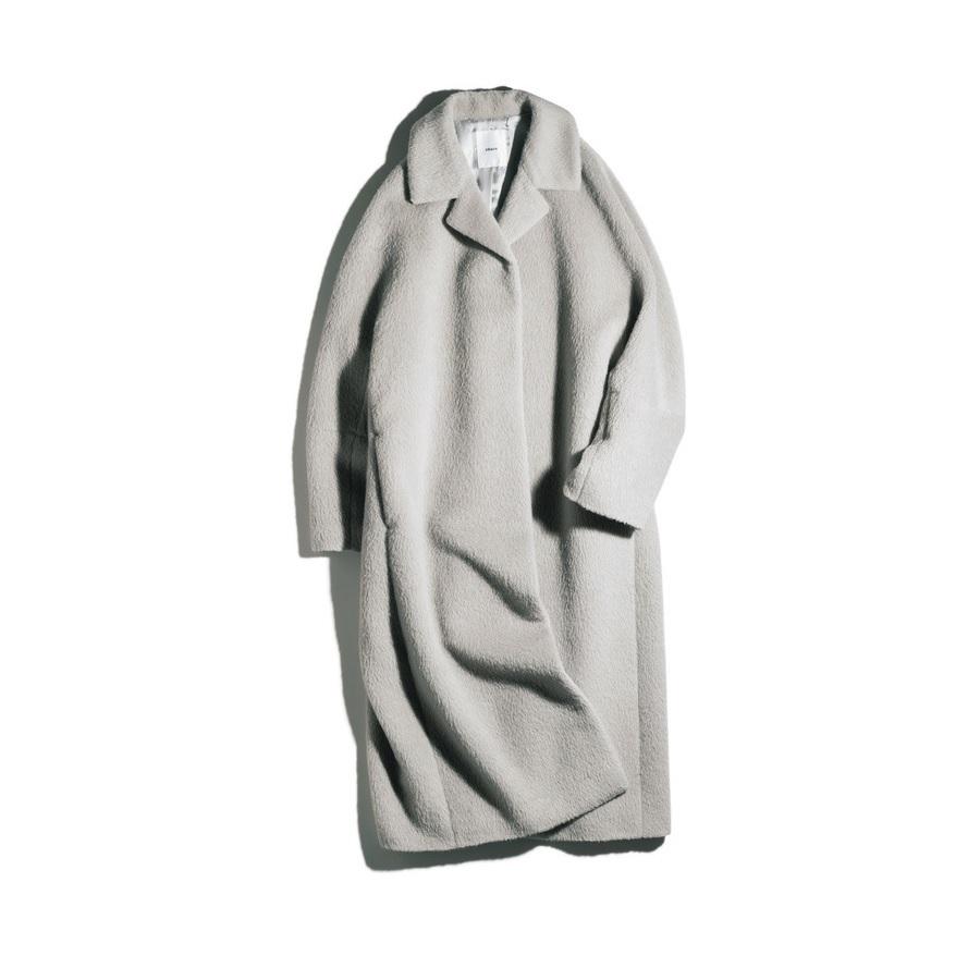 ファッション エブールのアルパカシャギーコート