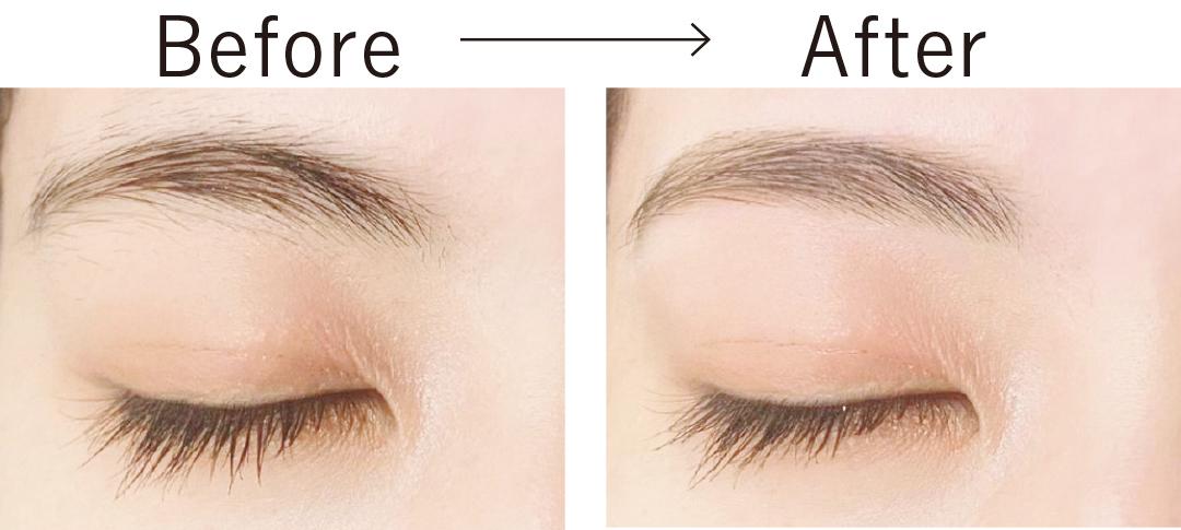 眉毛サロンでの施術で素眉美人に。BeforeとAfter