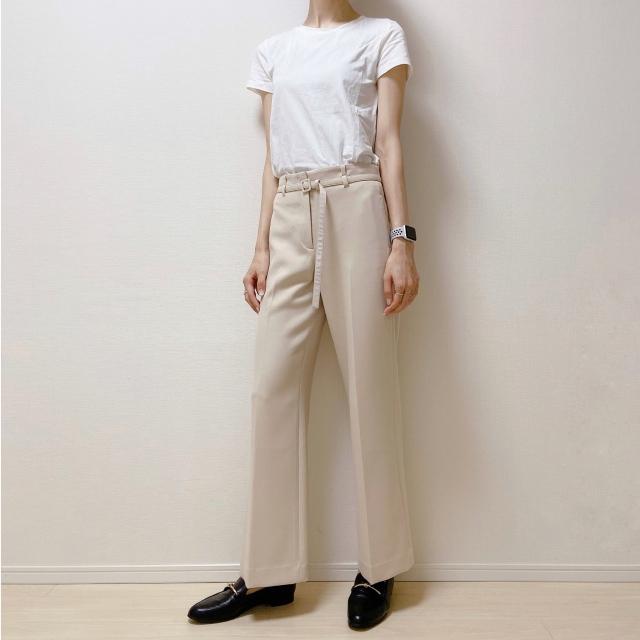【H&M】やっと出会えた! オフィスOKの理想のTシャツ【40代のスタイルアップコーデ #9】_1_3