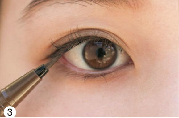 目が左右非対称さんの場合★タイプ別「デカ目」になる方法③ _1_4-1