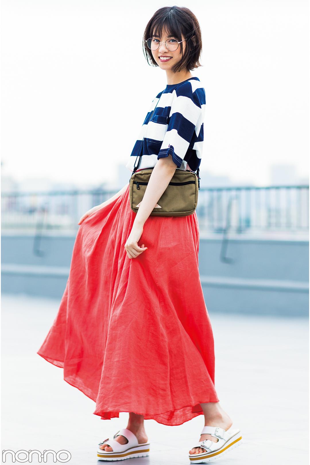 西野七瀬がお手本♡ 夏のロングスカートはカジュアルコーデが可愛い!_1_3-1