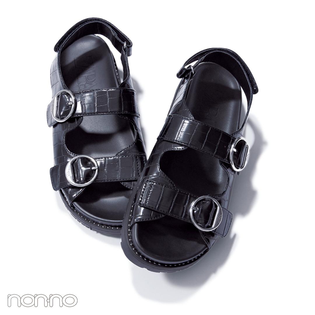 サンダル2019★楽ちんフットベッドサンダル、靴下コーデの正解教えます!_1_4-4