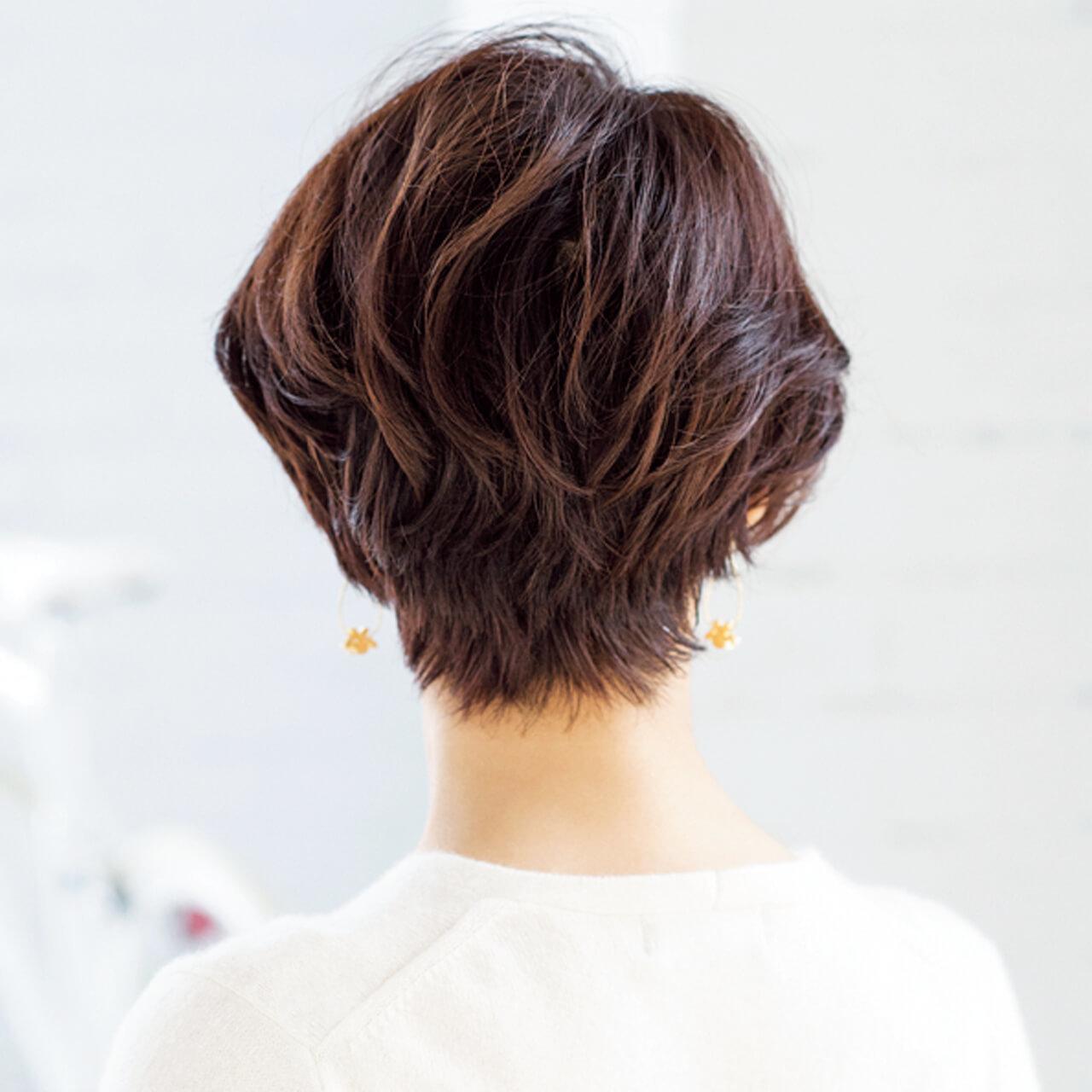 モードでありながら色っぽい!洗練されたひし形シルエットショート【40代のショートヘア】_1_3