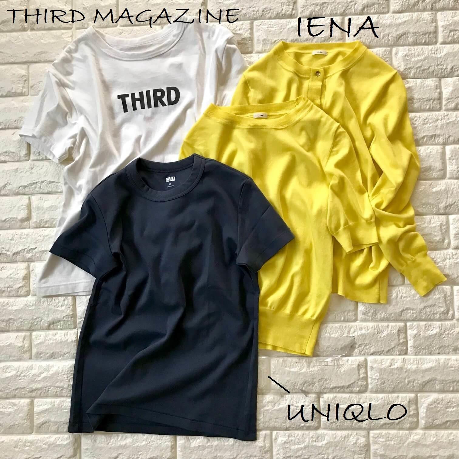 ユニクロとサードマガジンのTシャツ、イエナのツインニット画像
