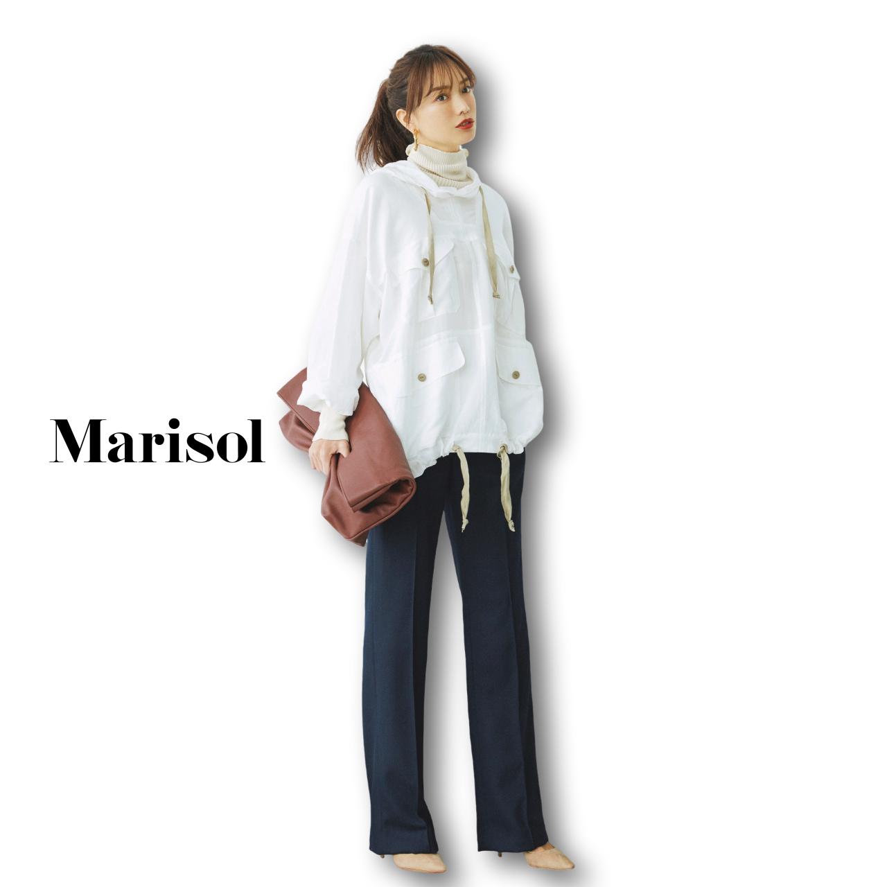 40代ファッション スポーテブルゾン×パンツコーデ