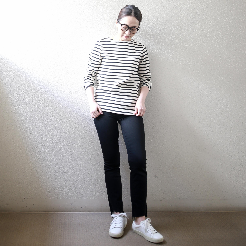 【Le minor/ルミノア】長袖バスクシャツ