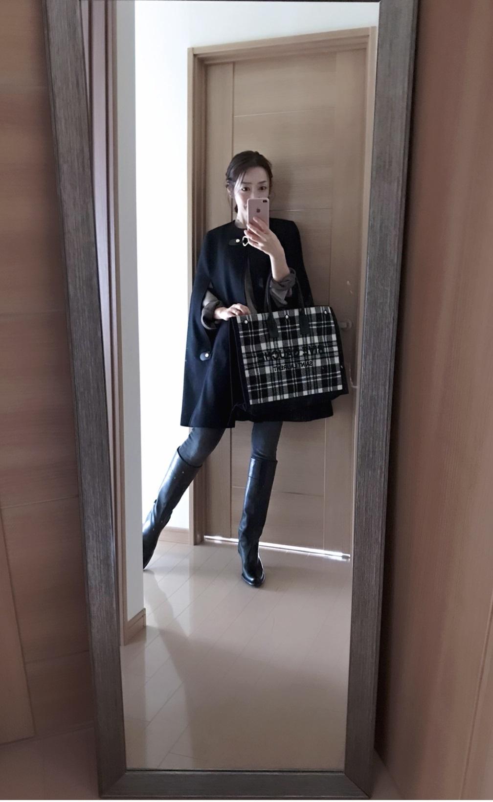 サンローランのバッグを持った画像