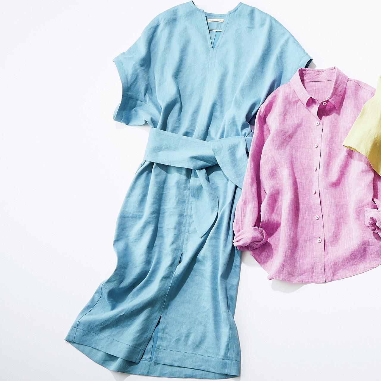 """リネンのカッコよさを印象づけるなら""""きれい色のトレンド感""""で 五選_1_1-5"""