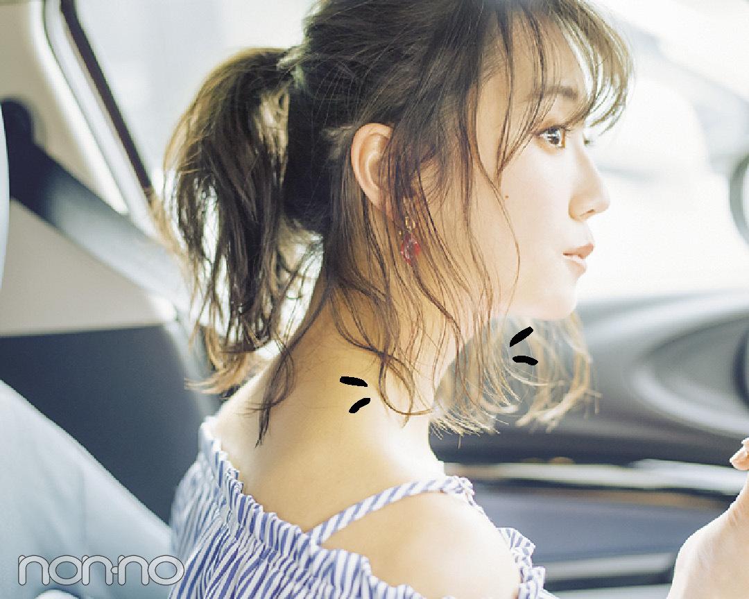 ミディアムのドライブデートは#彼女感なポニテで♡ 後れ毛の出し方ていねい解説! _1_4