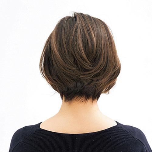 髪が伸びても目立ちにくい!気になる白髪をハイライト&ローライトでなじませて【40代のショートヘア】_1_3