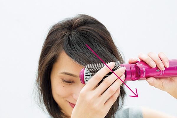 パックリ前髪のためのスタイリングテクニック_1_2-3
