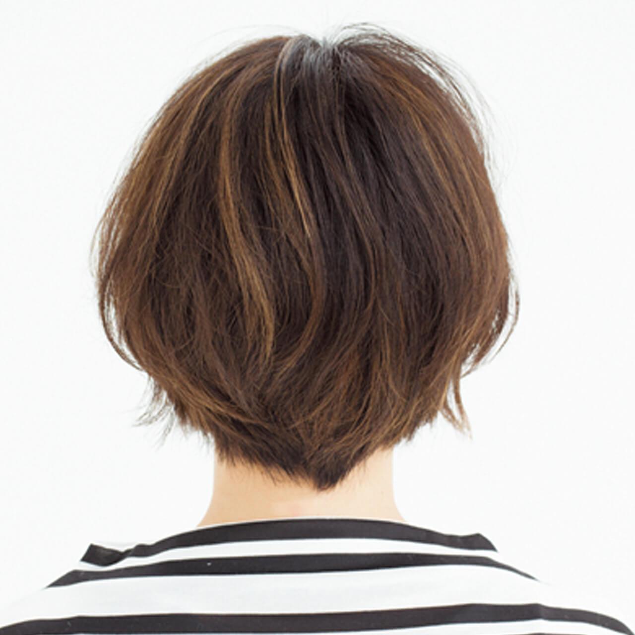 気になる白髪はグラデハイライトと深め前髪で解決!【40代のショートヘア】_1_3