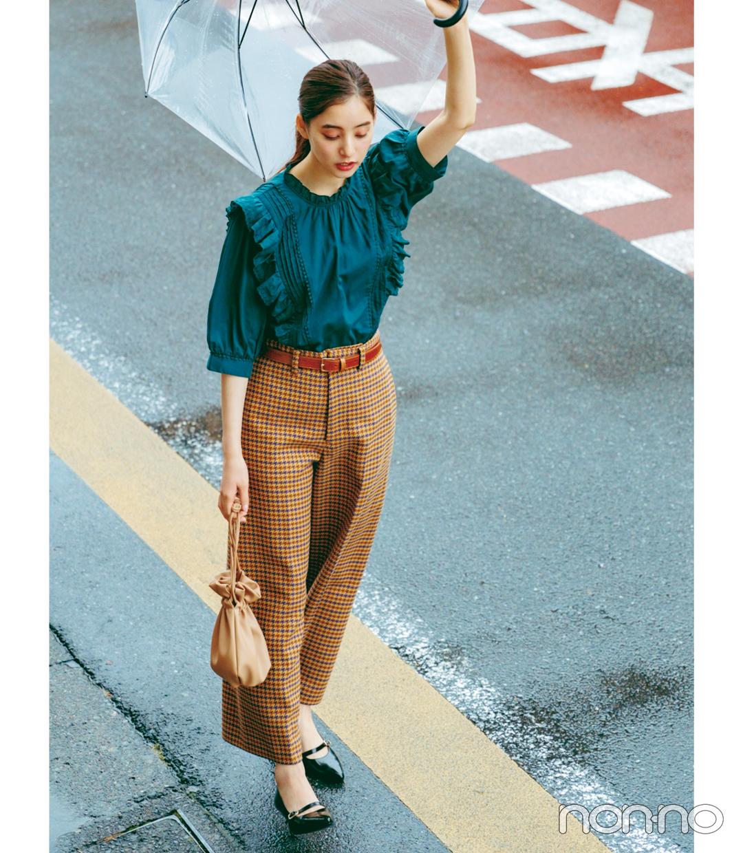 新木優子×新しいこと始まる秋服。「ボウタイとフリルが外せない」_1_3