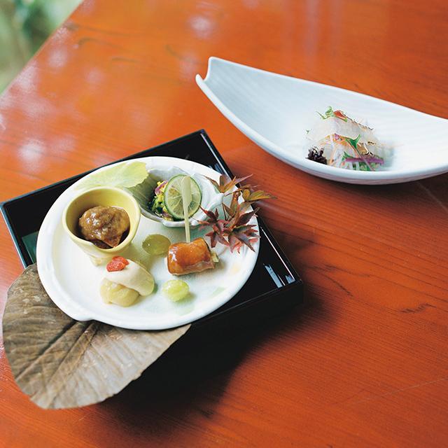 里山の秋を味わう前菜