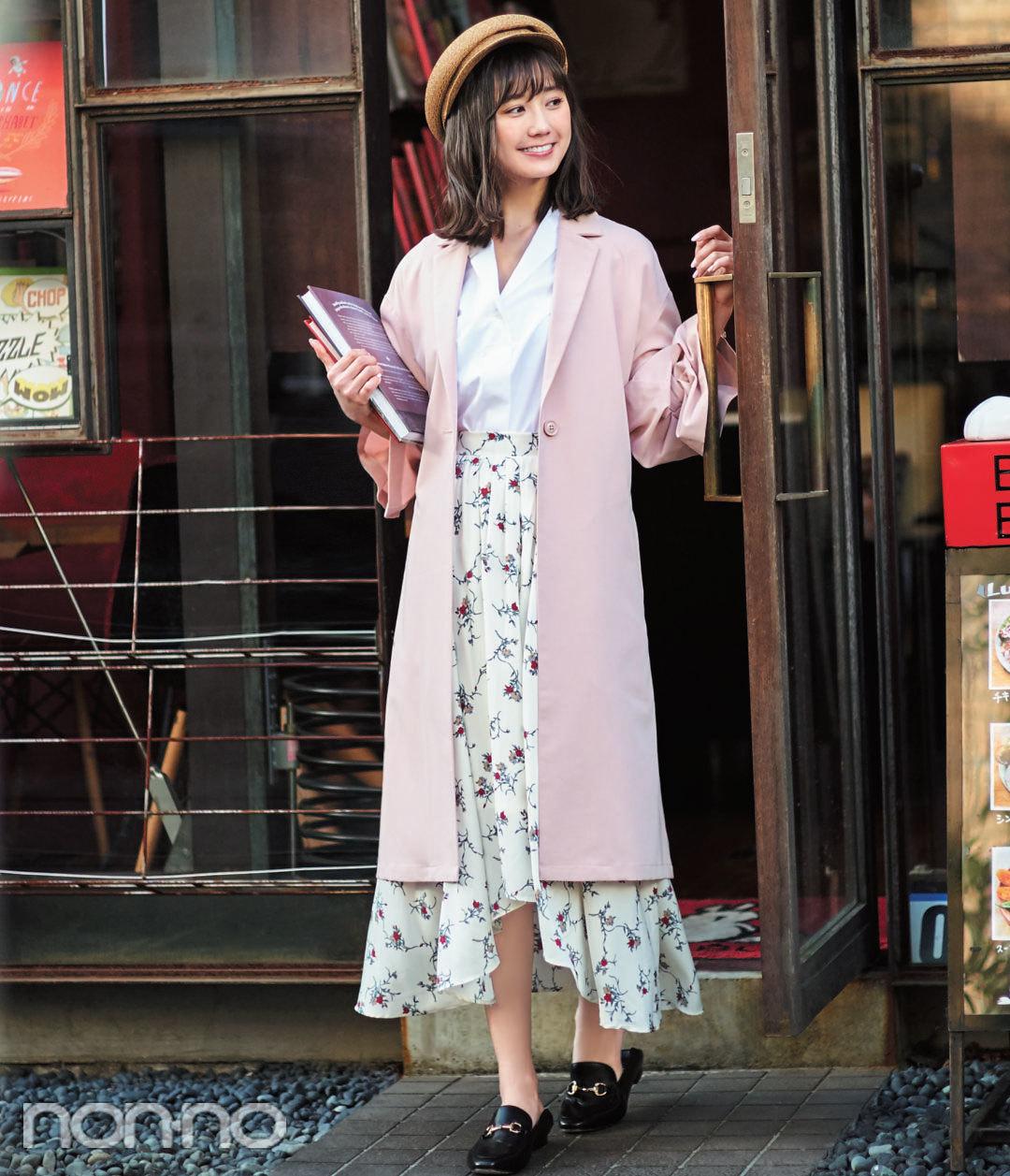 ノンノモデル鈴木友菜・春の大人っぽ着こなし、ポイントはこの3つ!_1_2
