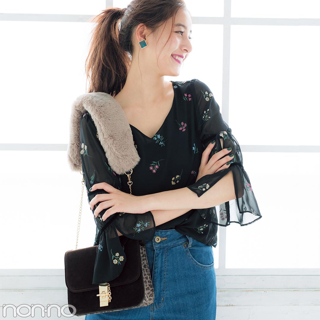 持ち手が可愛いバッグ|新木優子