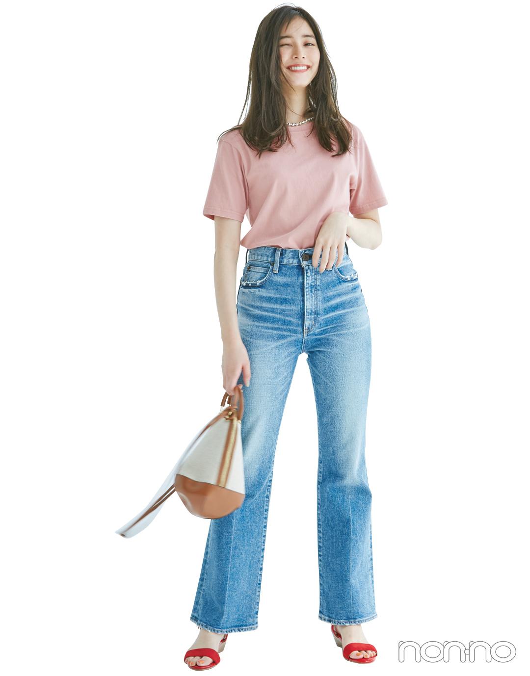 くすみピンクのTシャツ、今買ってもこれだけ着倒せる! 最新コーデ4選★_1_3-4
