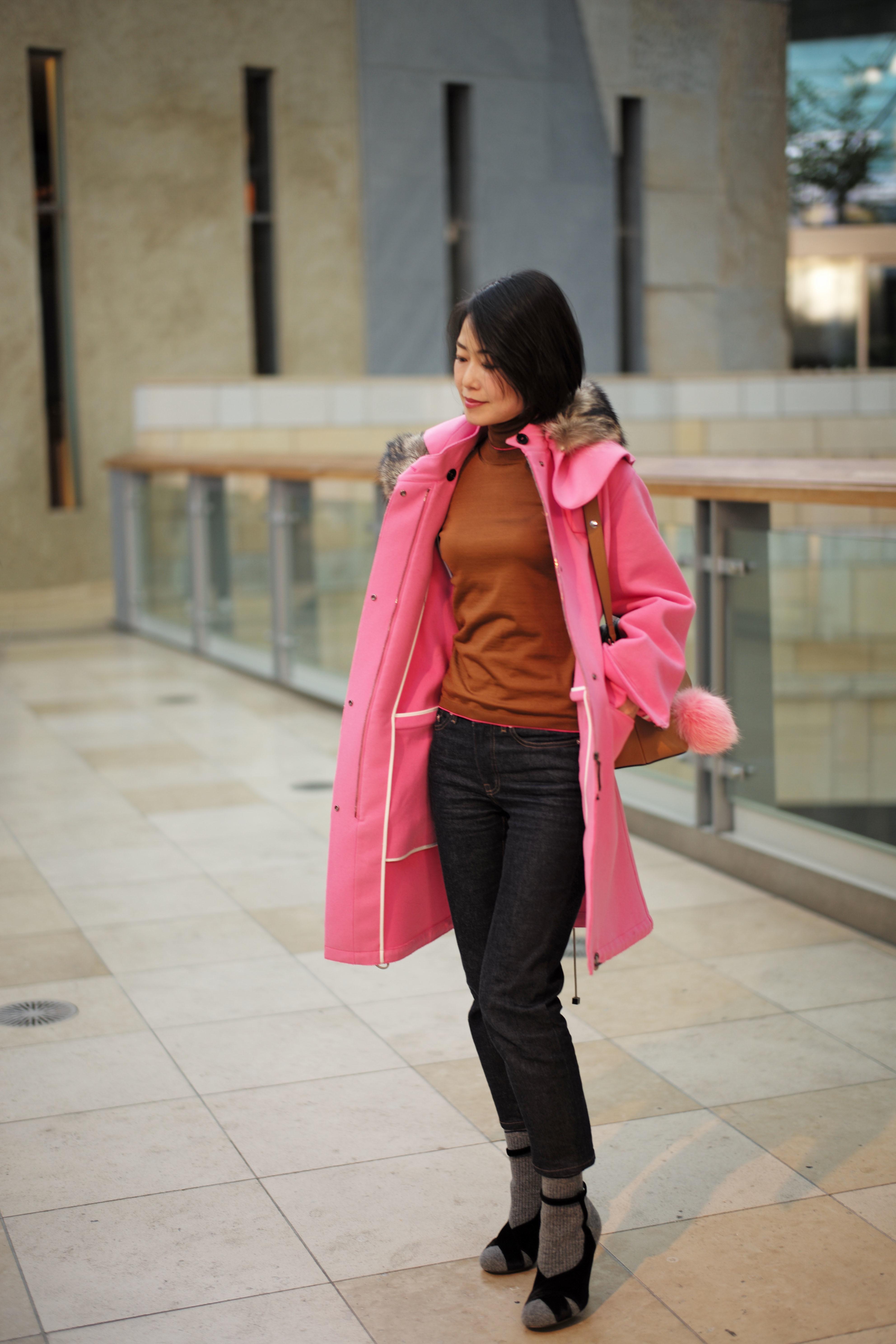 流行のブラウン、ピンクと合わせて_1_1