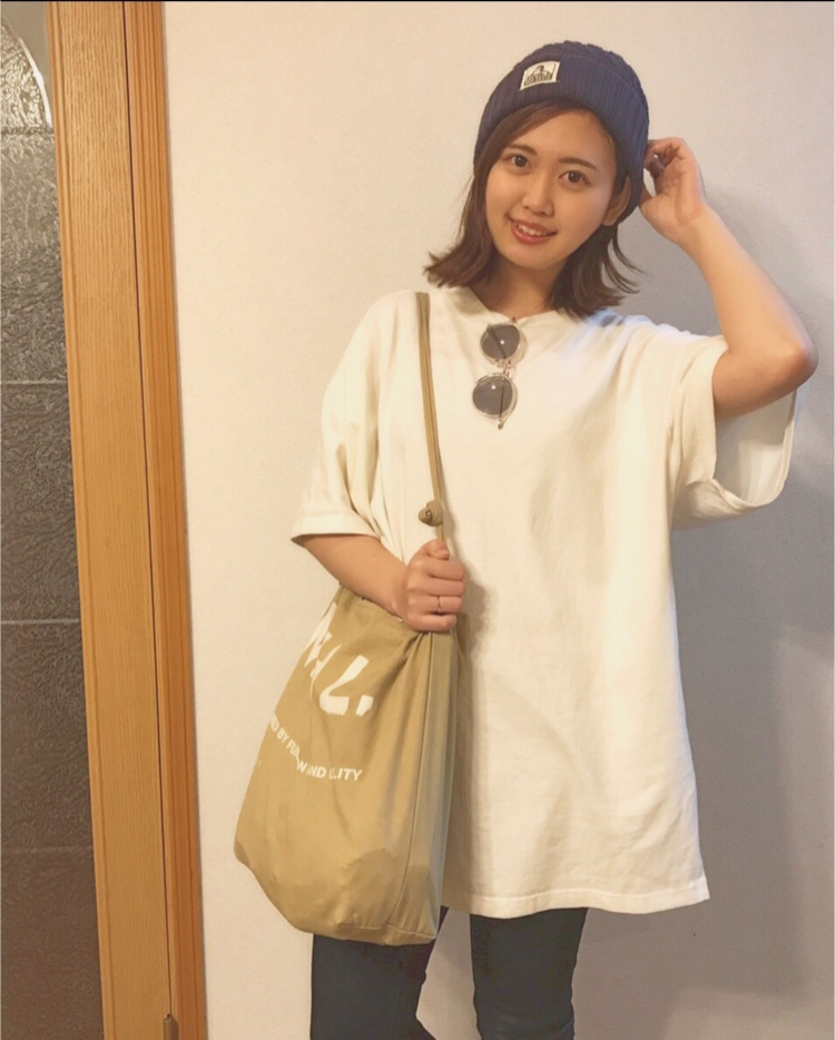 【ビッグTシャツが可愛い】レトロガール×GU プチプラコーデ(•ө•)♡_1_1