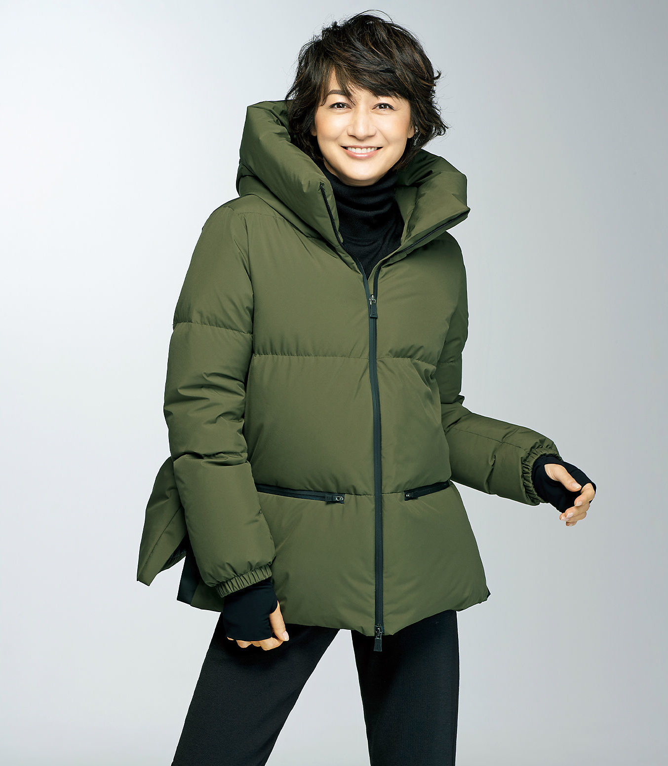 今買うべき、デザインがここに!富岡佳子さんがまとう「冬を彩る名品アウター」_1_2