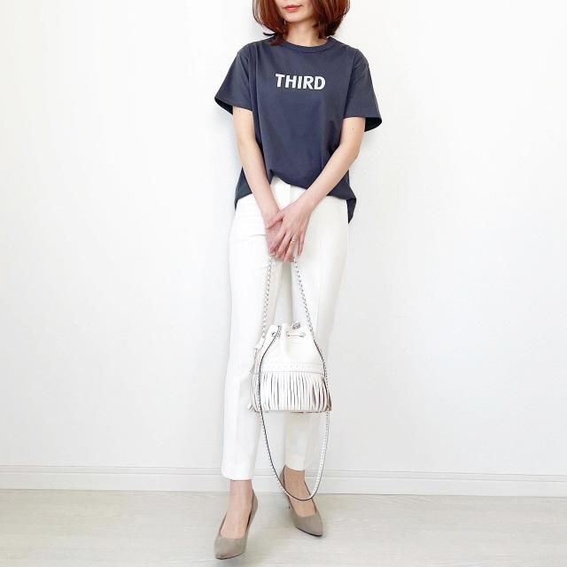 別注!限定ロゴTシャツで春先取りスタイル【tomomiyuコーデ】_1_7