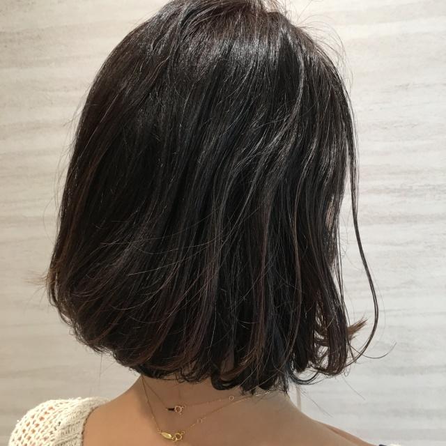 【40代 髪型】秋のナチュラルボブヘアー_1_1-1