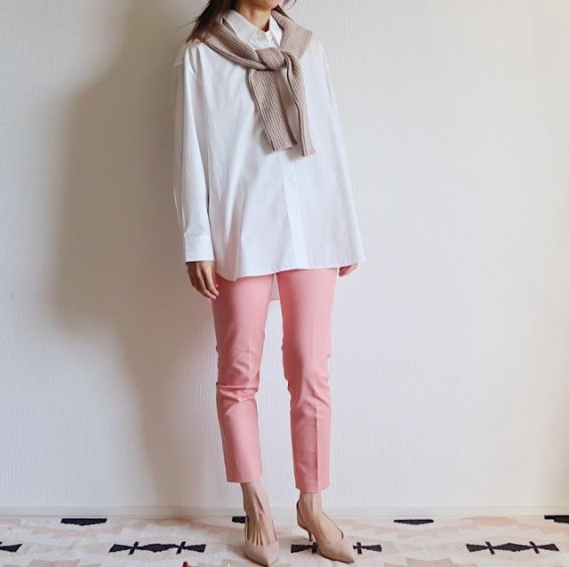 【ZARA】ピンクの〈きれい色パンツ〉で2020春コーデ _1_2