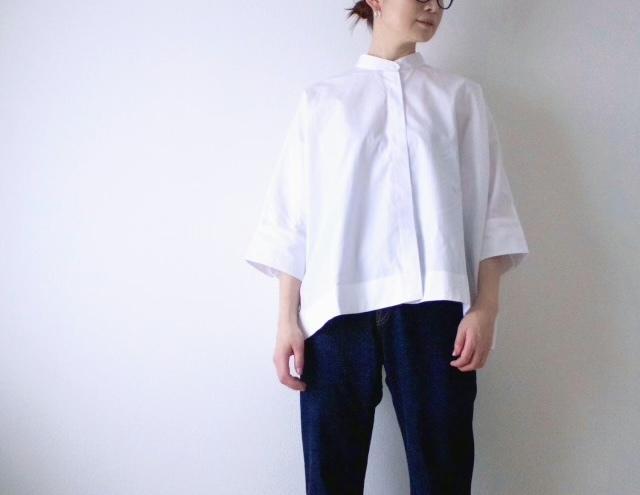 ユニクロ+J スーピマコットンドルマンスリーブシャツ(七分袖) ホワイト