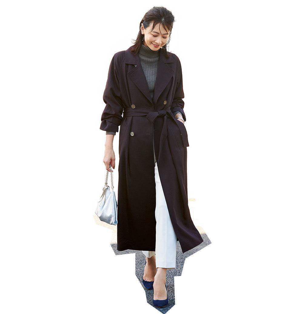 ファッション ウィムガゼットのブラウントレンチコート