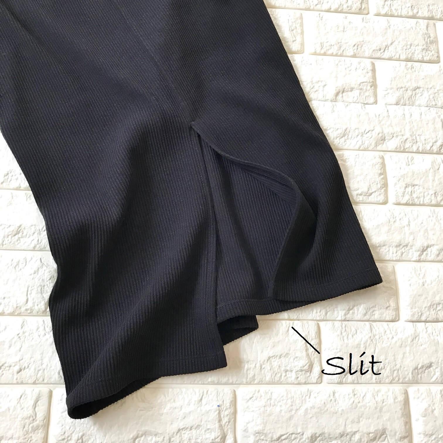 ユニクロのスカートスリット画像