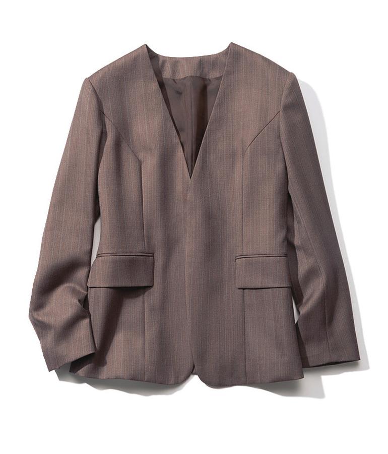 ジェーン スミスのストライプ柄ジャケット