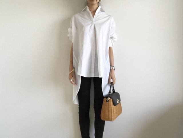 今季の白シャツ、私はこれ。【40代 私のクローゼット】_1_2