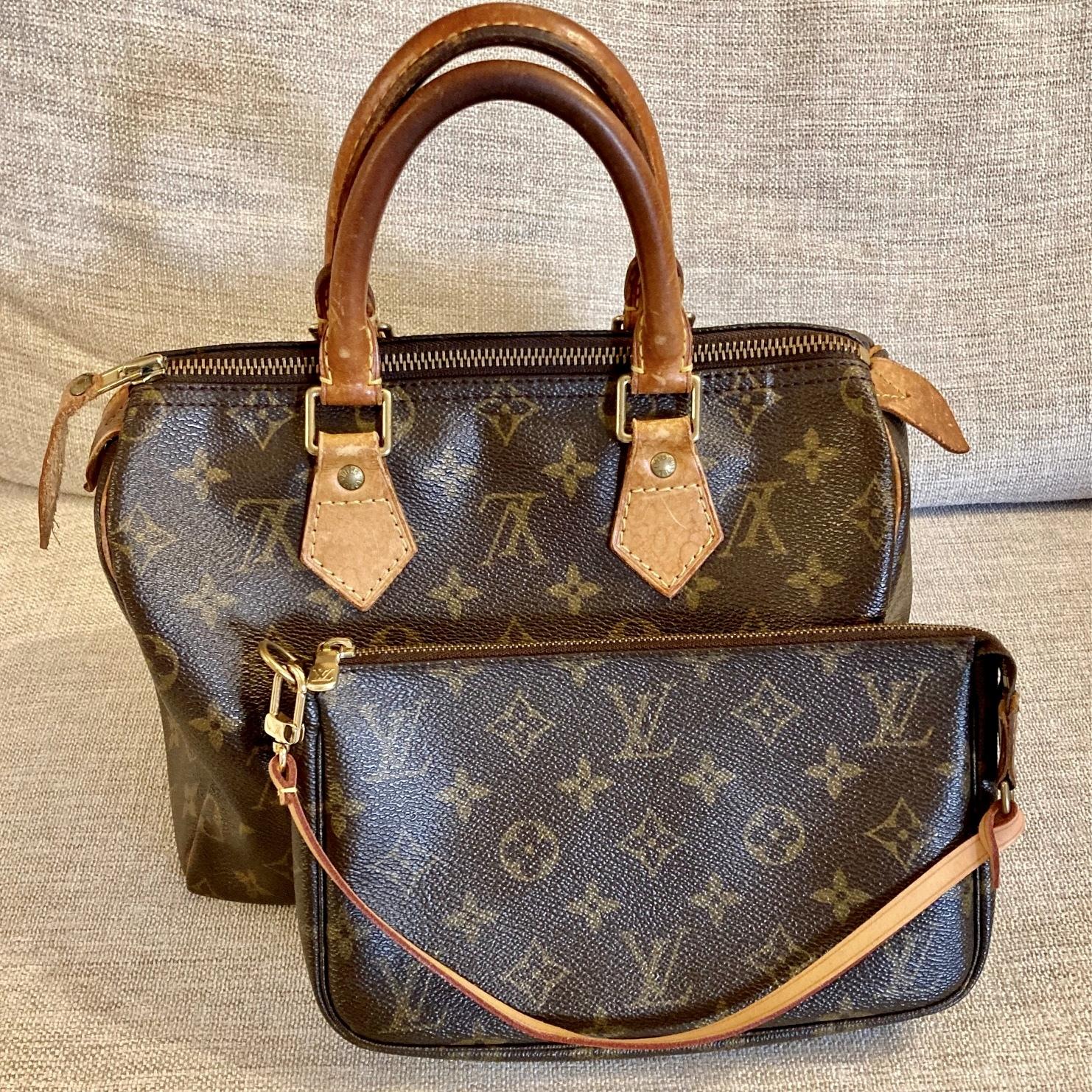 ルイヴィトンのバッグ。スピーディーとアクセサリーポーチ。
