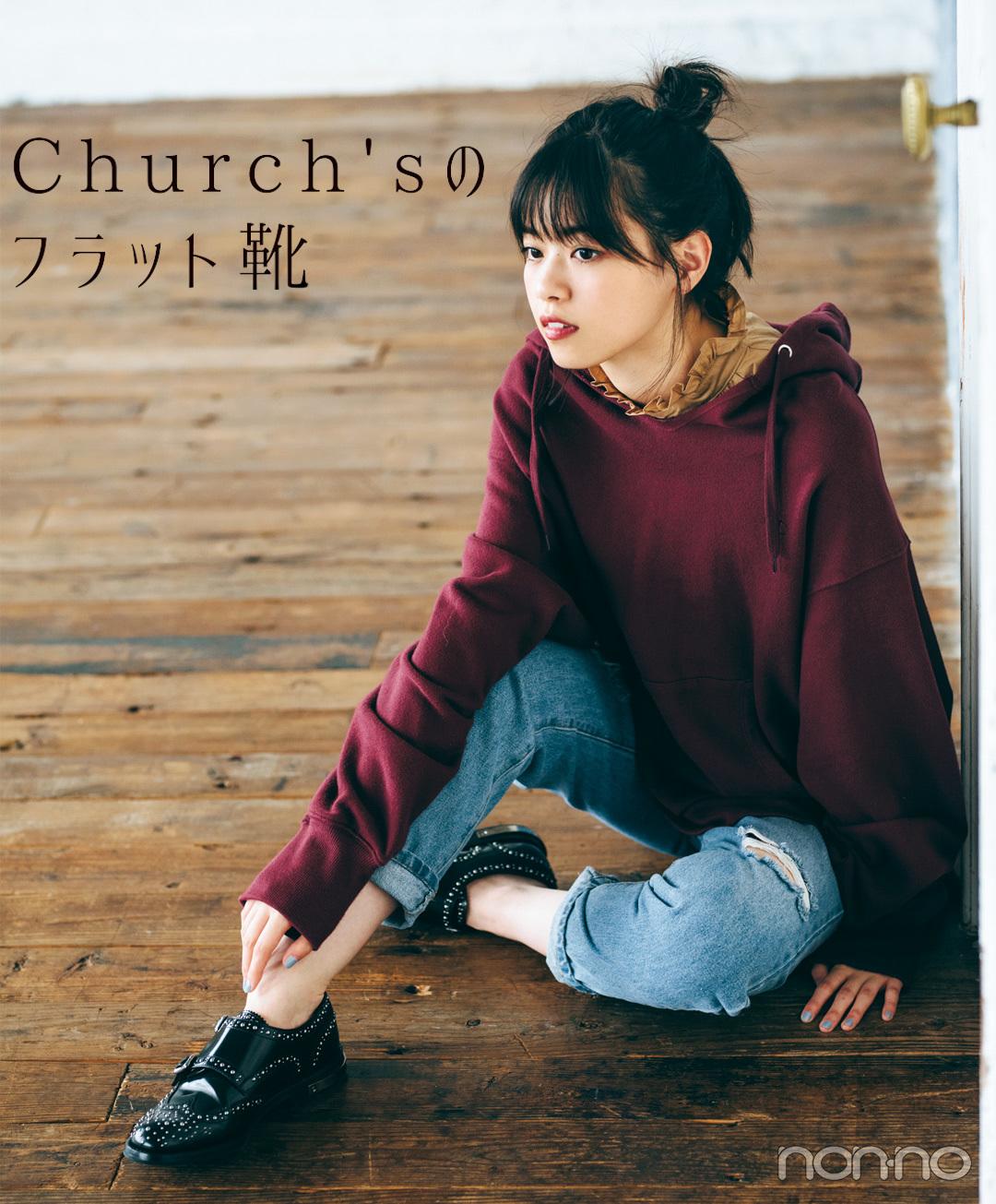 Church'sのフラット靴