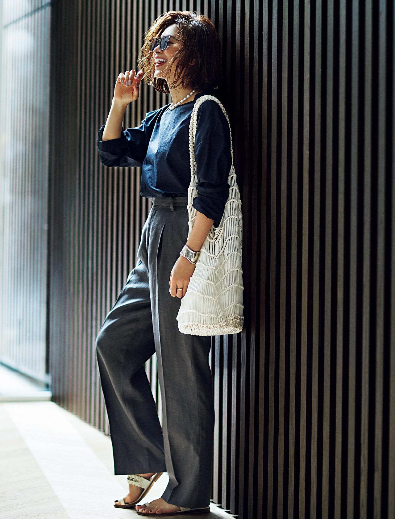 三尋木奈保の「気分が上がる服」が主役の6つのコーディネート6