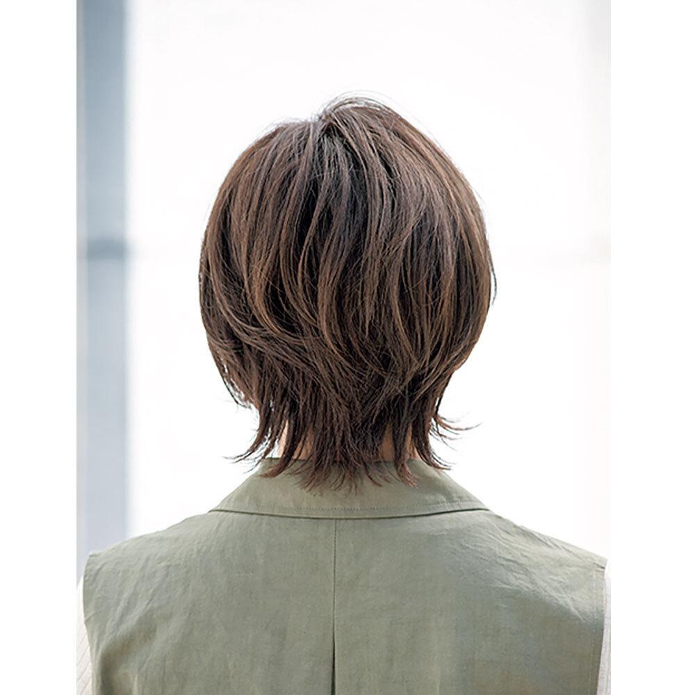 後ろから見た 40代ショートヘアスタイル人気ランキング2位
