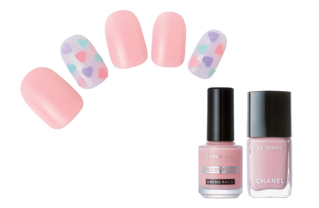 ピンクで優しく見られたい♡ 簡単なのに凝って見える春の好感ネイルデザイン3選!_1_3-1