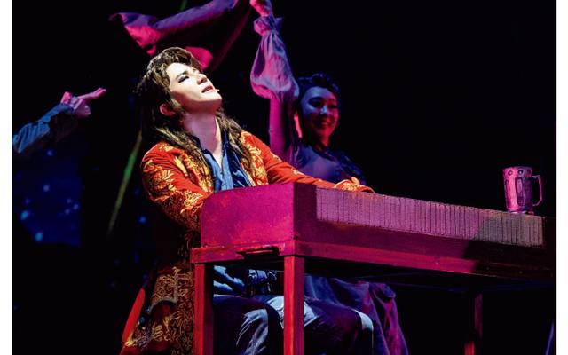 キム・ジュンス。『モーツァルト!』('20)の10周年記念公演で当たり役を務めた