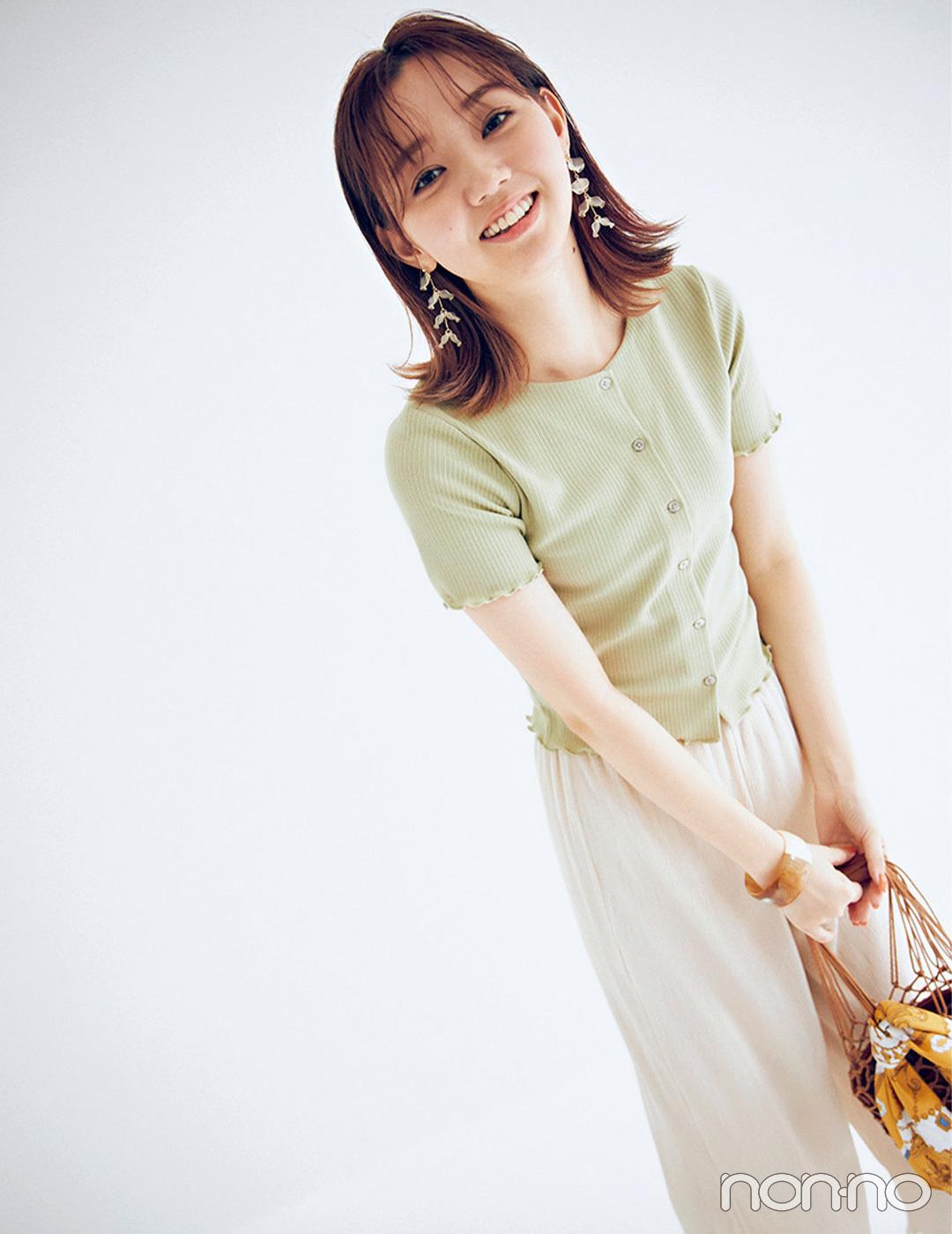 GUのライム色カーディガンで完成♡ プチプラ&トレンドコーデ【毎日コーデ】
