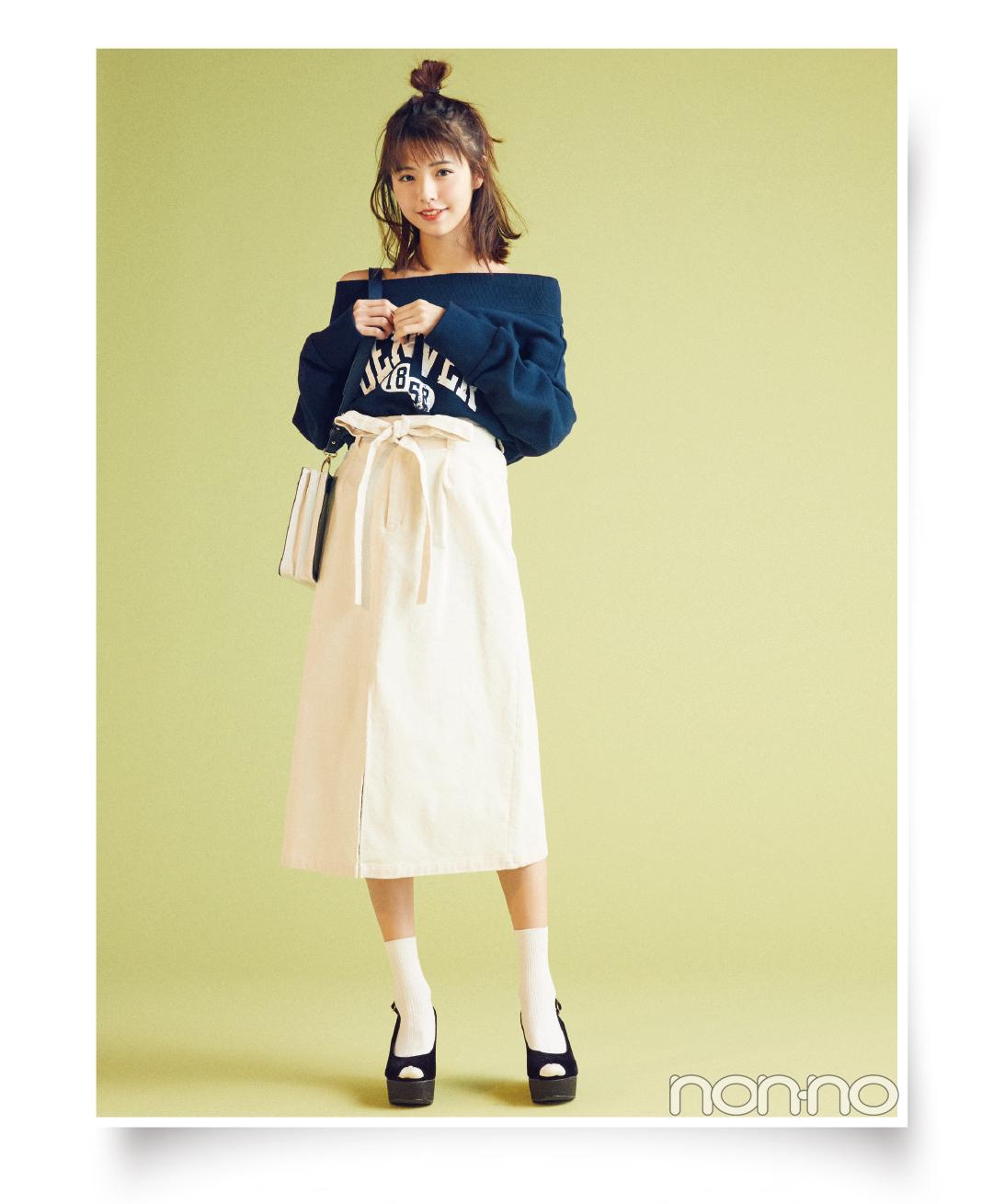 今買えば夏まで使える! ココディールのリボンつきスカートでスタイルアップ♡ _1_3